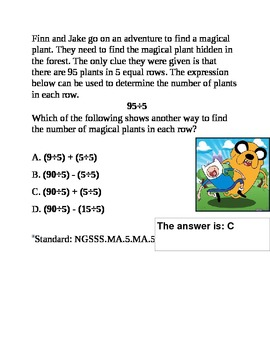 MA.5.A.1.1 Distributive Property of Division Review Question