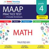 MAAP Practice Test, Worksheets - Grade 4 Math Test Prep