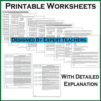MAAP Practice Test, Worksheets - Grade 6 English Language Arts - ELA Test Prep