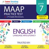 MAAP Practice Test, Worksheets - Grade 7 English Language Arts - ELA Test Prep