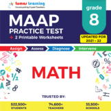 MAAP Practice Test, Worksheets - Grade 8 Math Test Prep