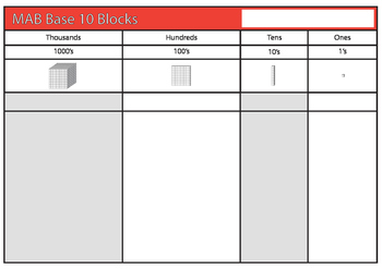 MAB Base 10 Block Placemat in A3