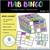 MAB Bingo - Tens and Ones - 2 Digit Numbers