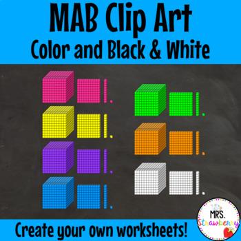 MAB Clip Art {Place Value Clip Art}