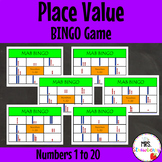MAB Place Value Bingo Game 1 to 20