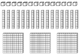 MAB pieces for craft activities - hundreds, tens, ones