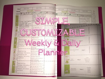 MAC- The Interactive Planner (simple, customizable daily and weekly plan pages)