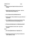 MACBETH Act III guided reading