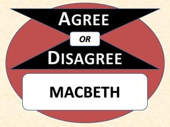 MACBETH - Agree or Disagree Pre-reading Activity