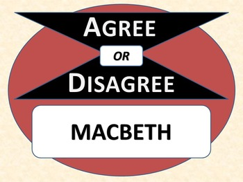 MACBETH - Agree or Disagree Pre-reading Activity