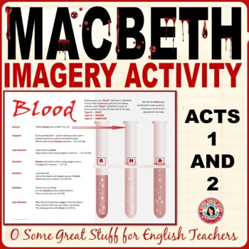 MACBETH Blood Imagery in Acts 1 and 2 Identification of Symbolism Activity