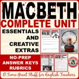 MACBETH UNIT BUNDLE Engaging Activities For Every Student