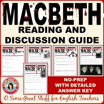 MACBETH BUNDLE Comprehension and Analysis Questions with Detailed Key
