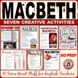 MACBETH Creative Activities- An Engaging Differentiated Resource Bundle