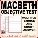 MACBETH FINAL OBJECTIVE TEST 100 Multiple Choice