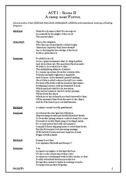 MACBETH Full Script (Entire Play) William Shakespeare