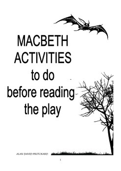 FREEBIE: Macbeth Pre-Framing Activities for students aged 9+