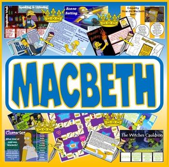 MACBETH TEACHING RESOURCES - KS 2-4 SHAKESPEARE READING ENGLISH LITERATURE