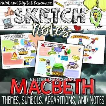 Macbeth Themes Symbols Apparitions Sketch Notes Guided Notes