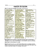 MACBETH UNIT: Macbeth Auditions Sheet