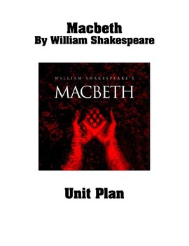 MACBETH UNIT PLAN: 73 PAGE PDF OF WORKSHEETS, POWER POINTS