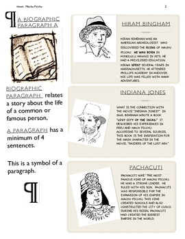 MACHU PICCHU ENGLISH WITH MANY ACTIVITIES