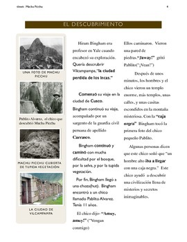MACHU PICCHU SPANISH WITH Span/Eng ACTIVITIES