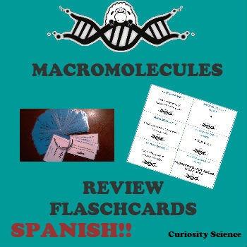MACROMOLÉCULAS - MACROMOLECULES FLASHCARDS SPANISH