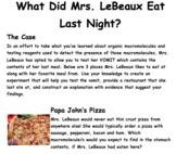 MACROMOLECULES UNIT: WHAT DID MRS. LEBEAUX EAT LAST NIGHT?