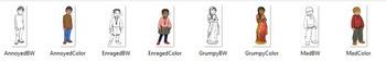 MAD Emotions CommUNITY Clip-Art Bundle-8 Pieces BW/Color
