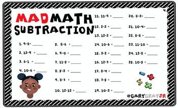 MAD MATH | BASIC FACT FLUENCY CHECK