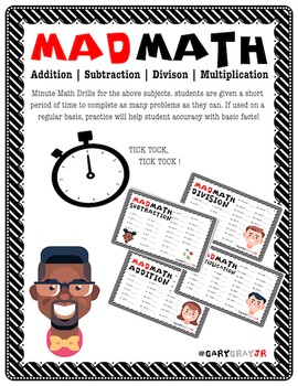 MAD MATH | BASIC FACT FLUENCY CHECK