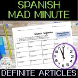 MAD MINUTE - 60 SEGUNDOS - ARTÍCULOS DEFINIDOS - SPANISH