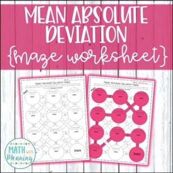 Mean Absolute Deviation Maze Activity