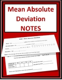 MAD - Mean Absolute Deviation Notes