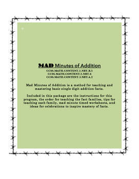 MAD Minutes of Addition