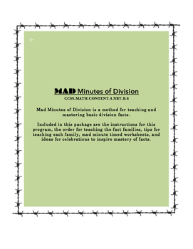 MAD Minutes of Division