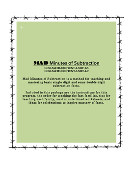 MAD Minutes of Subtraction