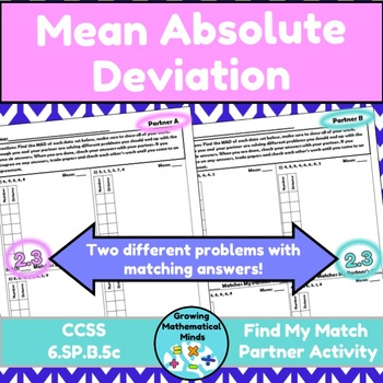 MAD Find My Match (Mean Absolute Deviation)