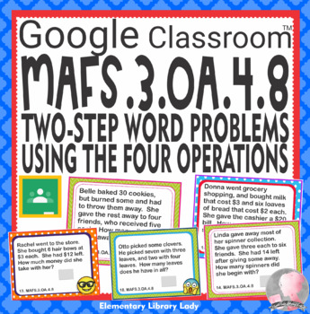 MAFS.3.OA.4.8 Florida Task Cards GOOGLE SLIDES - 25 Cards with Answer Key
