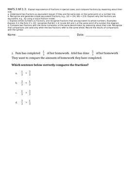 MAFS 3.NF.1.3 Standard Based Assessment
