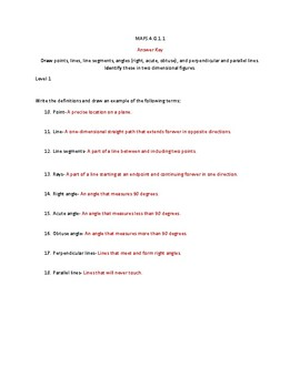 MAFS.4.G.1.1 Mastery activity FSA practice