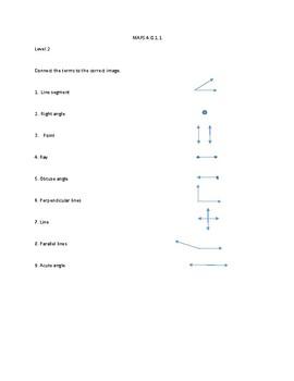 MAFS.4.G.1.1 Mastery activity