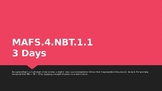 MODULE 1: MAFS.4.NBT.1.1 - 3 Day Powerpoint Lesson with wo