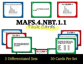 MAFS.4.NBT.1.1 Differentiated Task Cards