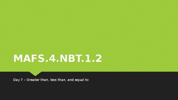 MODULE 1: MAFS.4.NBT.1.2 - 2 Day Powerpoint Lesson with worksheets