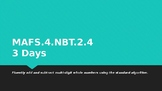 MODULE 1: MAFS.4.NBT.2.4 - 3 Days PowerPoint Lesson with w