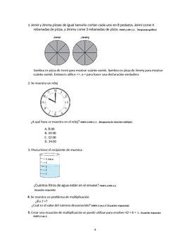 MAFS 40 Day Countdown Grade 3 - Spanish version