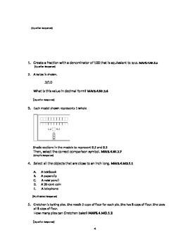 MAFS 40 day countdown Grade 4