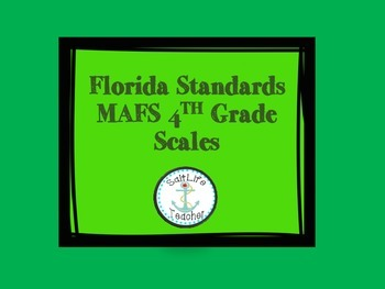 MAFS 4th Grade Florida Standards Scales Posters Rubric